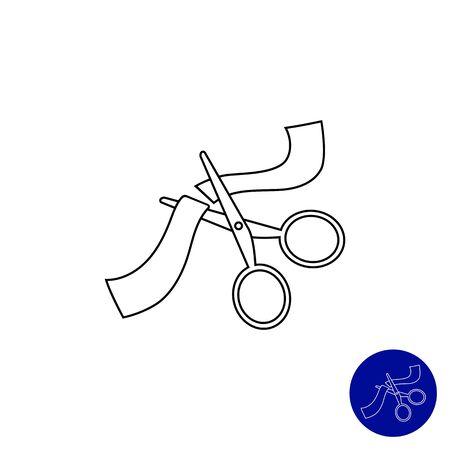 taglio del nastro: Icona di forbici taglio del nastro