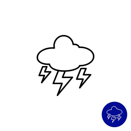 humidity: Icon of cloud with lightning