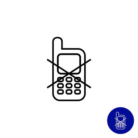 prohibido: Icono del signo de uso del tel�fono m�vil prohibida
