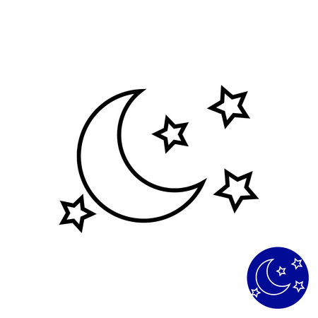 children of heaven: Icon of moon and stars