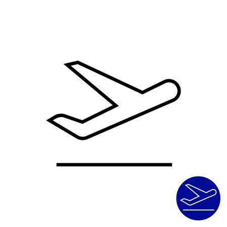 taking off: Icono de despegar avi�n
