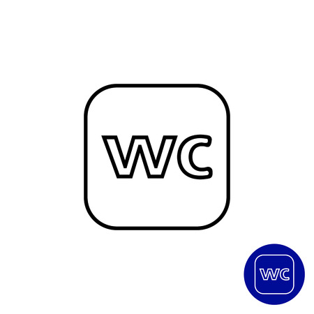 wc sign: WC sign icon Illustration