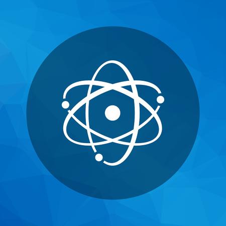 design objects: Icon of atom model Illustration