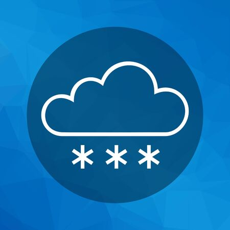 humidity: Icon of cloud and snowflakes Illustration