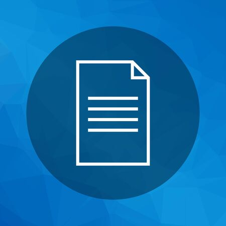 written text: Icon of document with folded upper corner Illustration