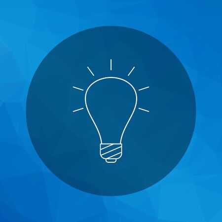 filament: Line icon of glowing bulb