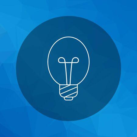 watt: Line icon of oval lightbulb Illustration