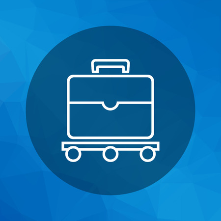 check icon: Icon of suitcase moving on luggage carousel Illustration
