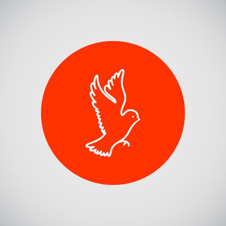 beine spreizen: Vogel-Symbol  Illustration