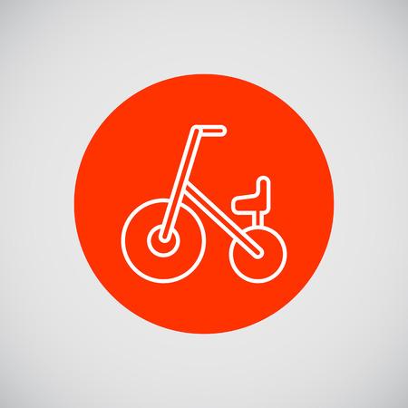 ni�os en bicicleta: Icono de la bicicleta de los ni�os Vectores