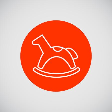 rocking: Rocking horse icon Illustration