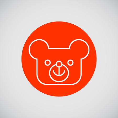 baby playing toy: Icon of teddy bear head