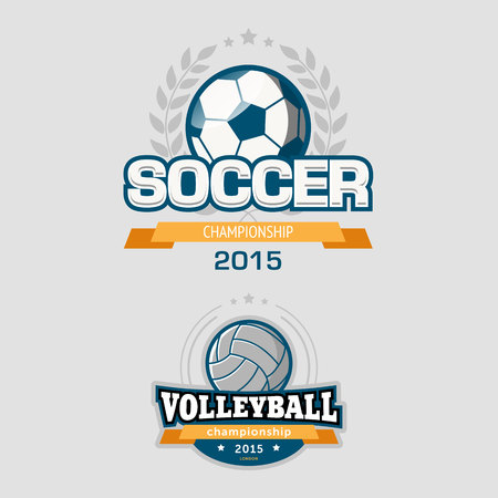 championships: Sport icon including soccer and volleyball championships