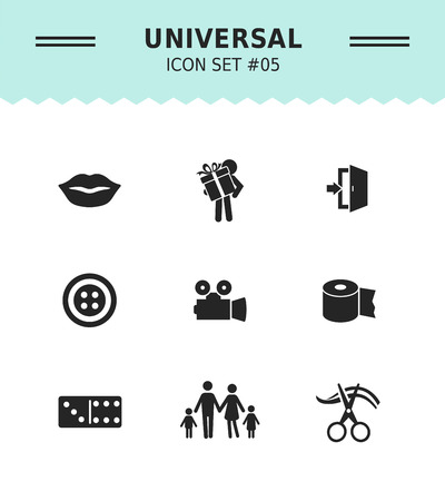 male: Set of vector icons with various concepts, isolated on white