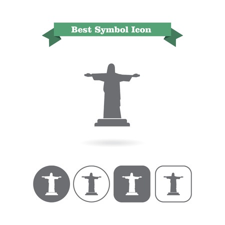 crist: Icon of Christ the Redeemer statue Stock Photo