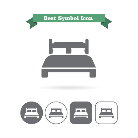 double bed: Double bed icon Illustration