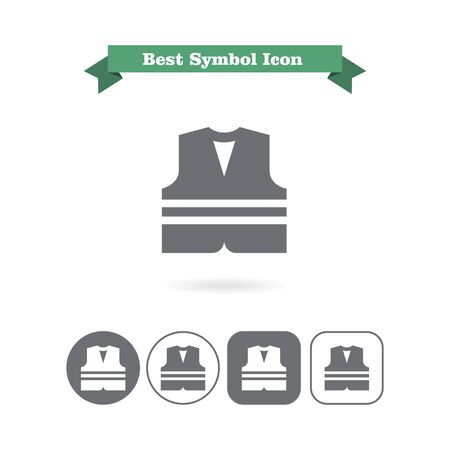 noticeable: Safety vest icon Stock Photo