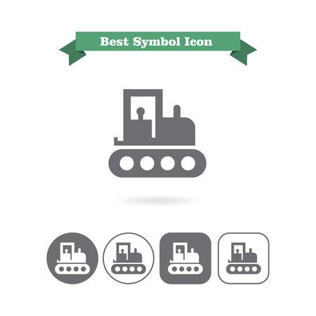 web crawler: Tractor icon Stock Photo