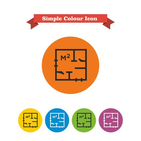 designation: Icon of apartment scheme with square meter designation