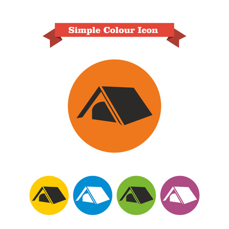 travel logo: Tourist tent icon
