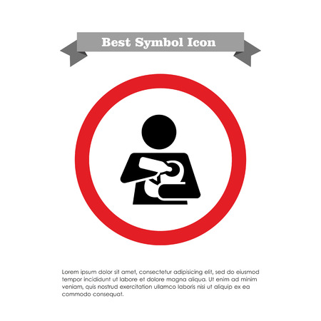 nursing bottle: Icon of woman silhouette holding and feeding baby