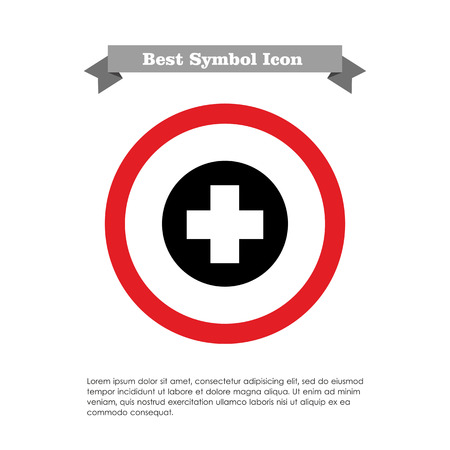 recue: Icon of medical cross sign in circle Illustration