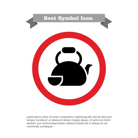 teaparty: Icon of teapot with cup