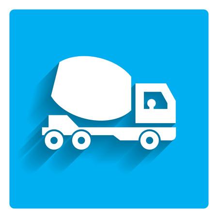 concrete: Icono del camión hormigonera