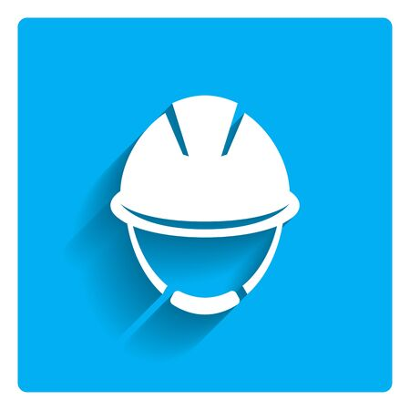 worker person: Hardhat icon Illustration
