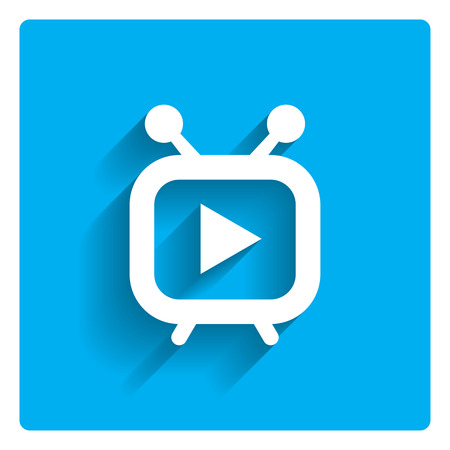 tv panel: Icon of stylized media player Illustration
