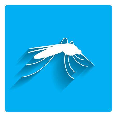 gnat: Mosquito icon Illustration