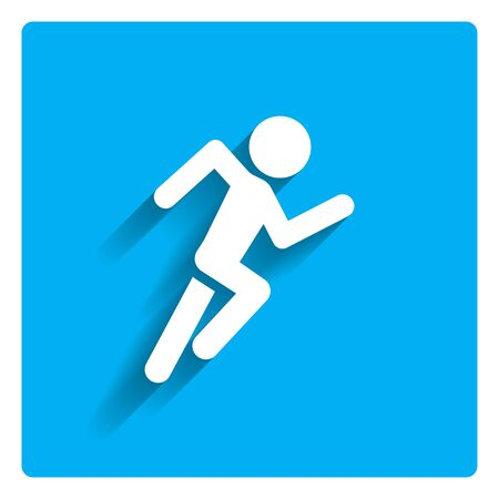 man symbol: Icon of running man silhouette