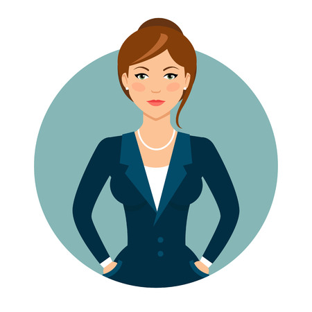 woman business suit: Female character, portrait of young woman in business suit