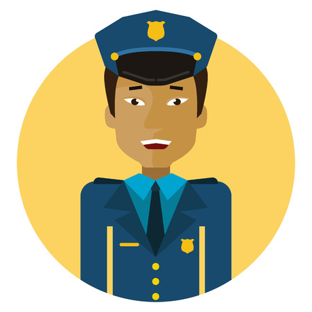 blank expression: Male character, portrait of young Asian policeman