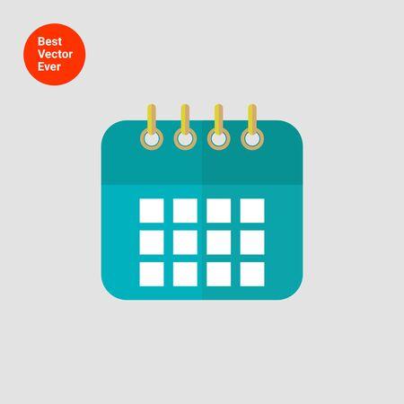 calendar icon: Icon of calendar page Illustration