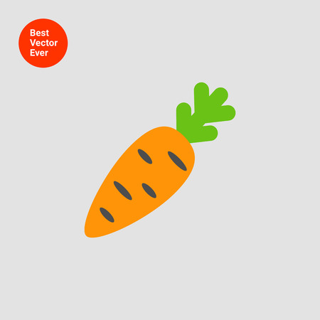 carrot isolated: Carrot icon Illustration