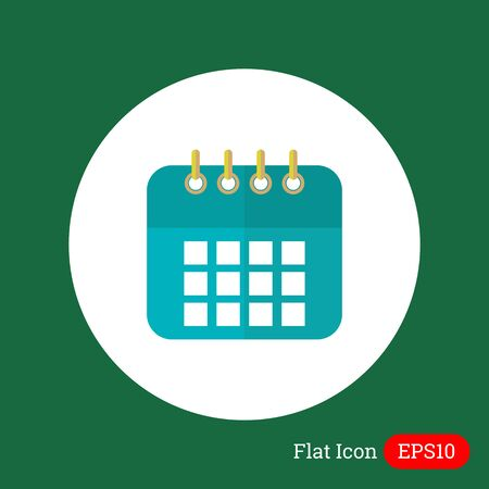 event planning: Icon of calendar page Illustration