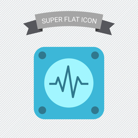 medical heart: Icon of electrocardiogram