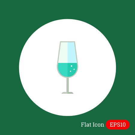 mineral water: Icon of glass with sparkling mineral water