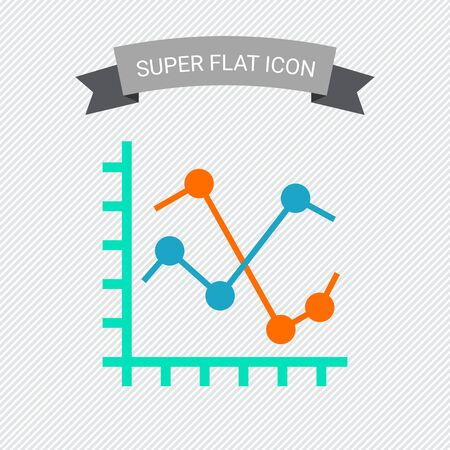 fluctuation: Icon of two line Stock Photo