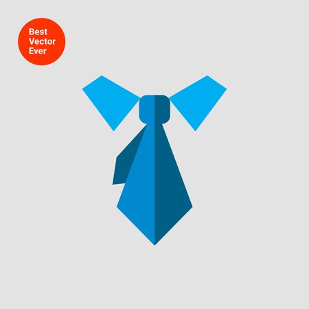 Icon of necktie and shirt collar