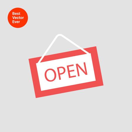 door sign: Icon of open door sign