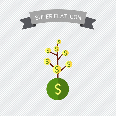 instead: Icon of tree with dollar sign coins instead of leaves