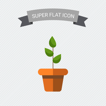 growing plant: Icon of potted plant