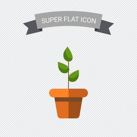 crecimiento planta: Icono de la planta en maceta