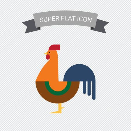 jowl: Cockerel icon Illustration