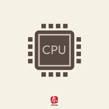 unit�: Icon of central processing unit