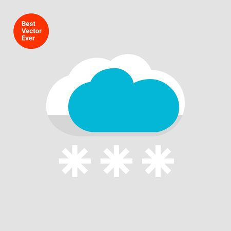 predicting: Icon of cloud and snowflakes Illustration
