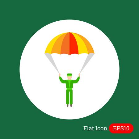 fallschirm: Icon der Silhouette des Menschen mit Fallschirm