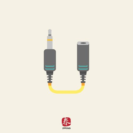 input device: Icon of jack extender Illustration